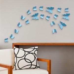 3D Metulji - modri pikčasti