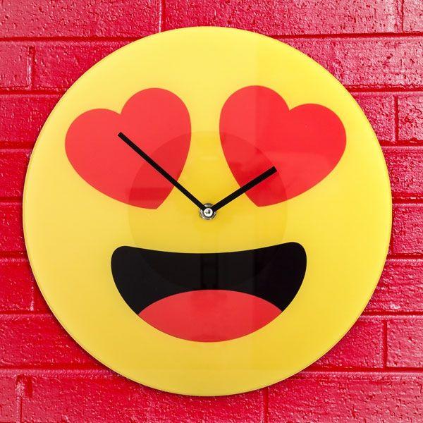 Stenska ura Emoji srček