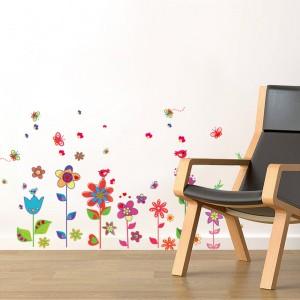 Motiv Barvite rože z metulji