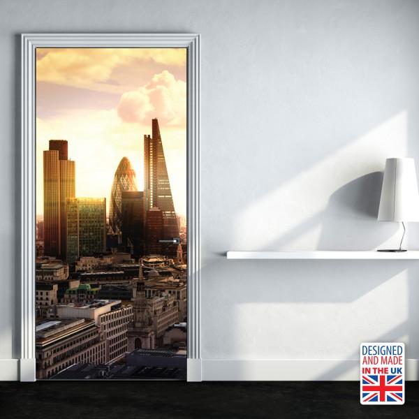 Nalepka za vrata London (90x200 cm)
