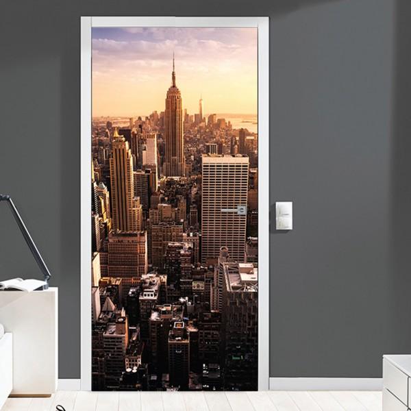Nalepka za vrata Manhattan (90x200 cm)