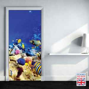 Nalepka za vrata Morska globina (90x200 cm)