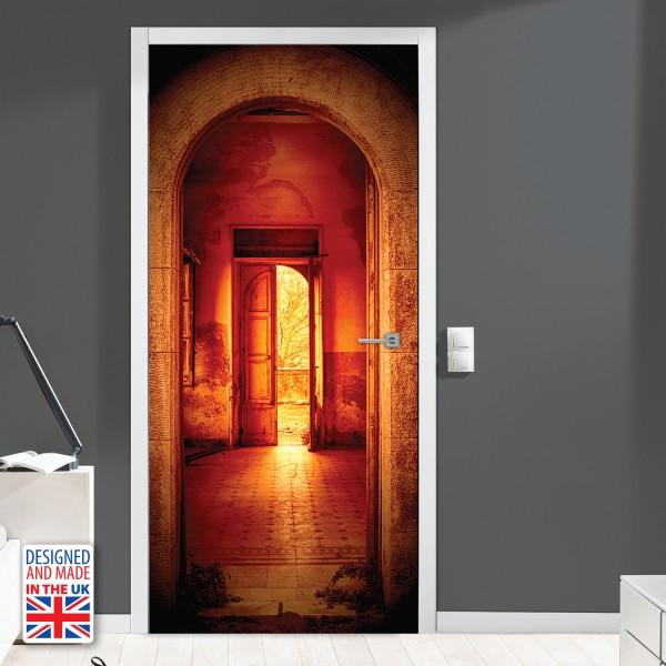 Nalepka za vrata Vhod v vilo (90x200 cm)