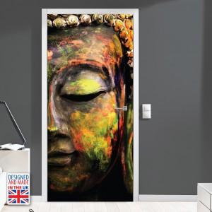 Nalepka za vrata Barve miru (90x200 cm)