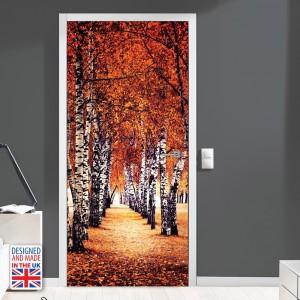 Nalepka za vrata Brezov gozd II (90x200 cm)