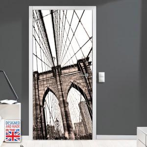 Nalepka za vrata Brooklynski most (90x200 cm)