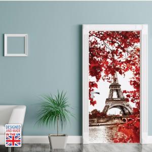 Nalepka za vrata Eifflov stolp (90x200 cm)