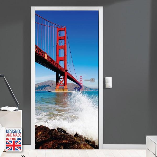 Nalepka za vrata Golden Gate (90x200 cm)
