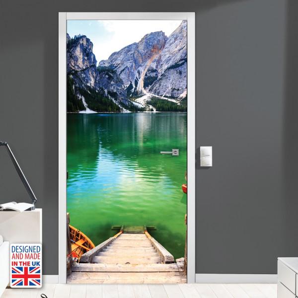 Nalepka za vrata Gorsko jezero II (90x200 cm)