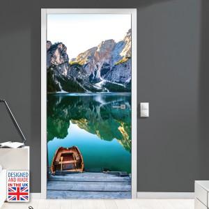 Nalepka za vrata Gorsko jezero (90x200 cm)