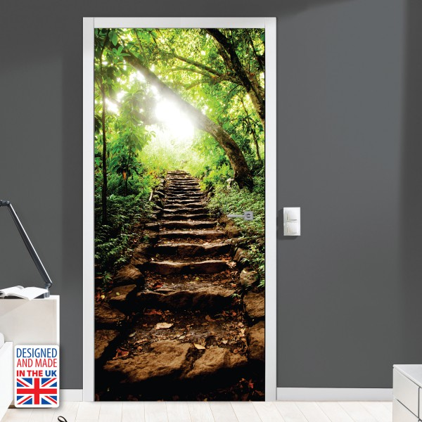 Nalepka za vrata Gozdne stopnice (90x200 cm)