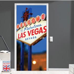Nalepka za vrata Las Vegas (90x200 cm)