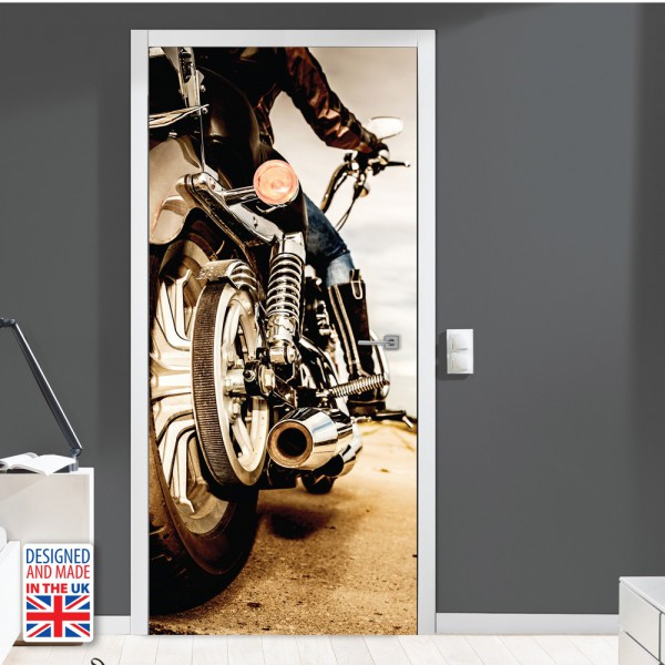 Nalepka za vrata Motorist (90x200 cm)
