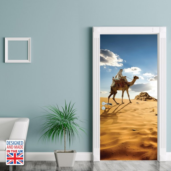 Nalepka za vrata Puščavska avantura (90x200 cm)