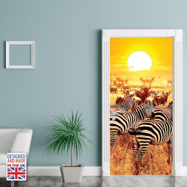 Nalepka za vrata Savana (90x200 cm)