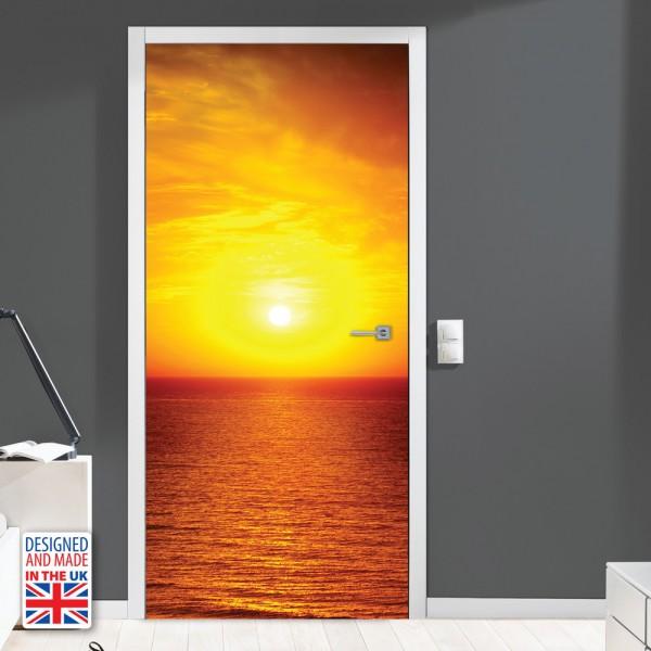 Nalepka za vrata Sončni zahod (90x200 cm)