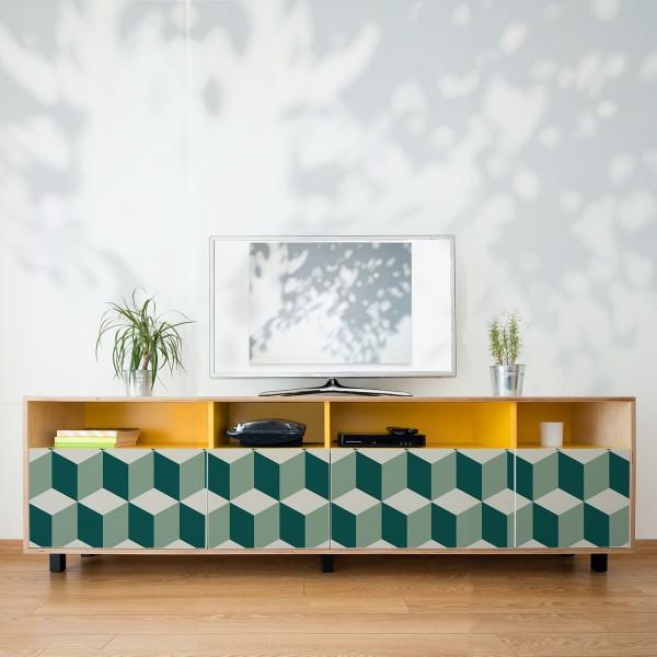 Samolepilna tapeta 3D Kocke II (4x 54x54 cm)