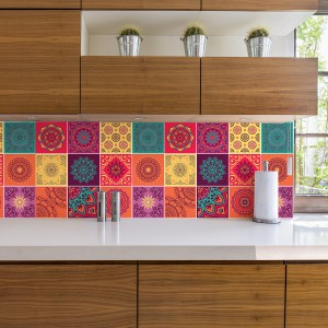 Motiv Barvite Mandala ploščice 15x15 cm - 24 kosov