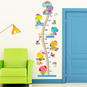 Motiv Barviti slončki in meter