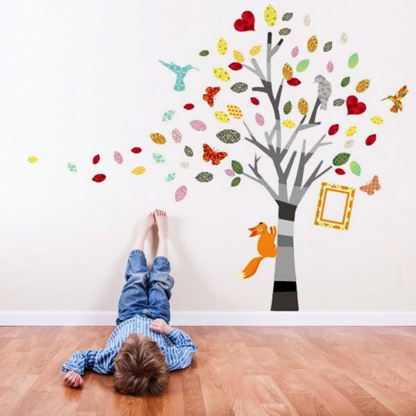 Motiv Barvno drevo s sliko