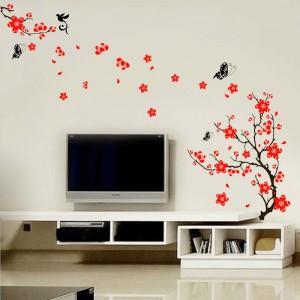 Motiv Črno-rdeče drevo