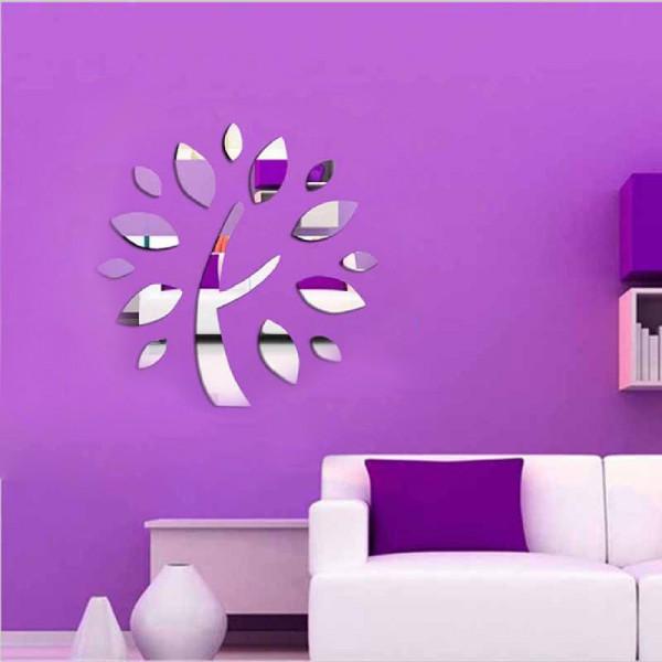 Motiv Ogledalo - drevo