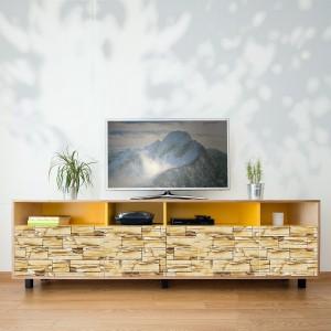 Samolepilna tapeta Kamniti zid (4x 54x54 cm)