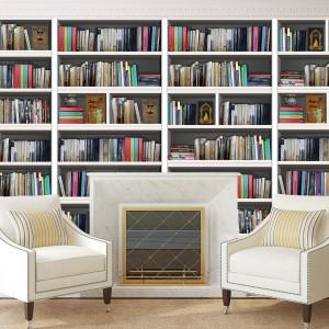 Samolepilna tapeta Knjižne police (4x 60x90 cm)
