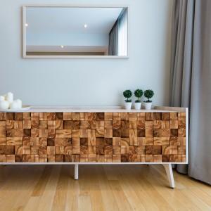 Samolepilna tapeta Lesni kvadrat (4x 60x90 cm)