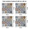 Samolepilna tapeta Mediteranske ploščice (4x 60x60 cm)