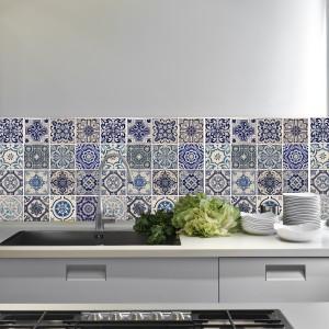 Samolepilna tapeta Modre španske ploščice (4x 54x54 cm)