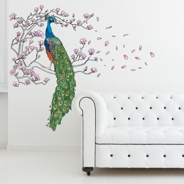 Motiv Pav in magnolija