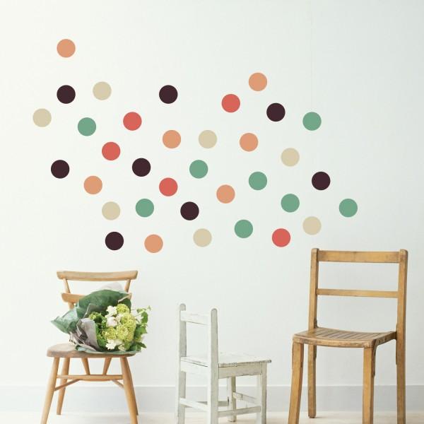 Motiv Majhni barviti krogci