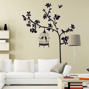 Motiv Ptičja kletka na drevesu
