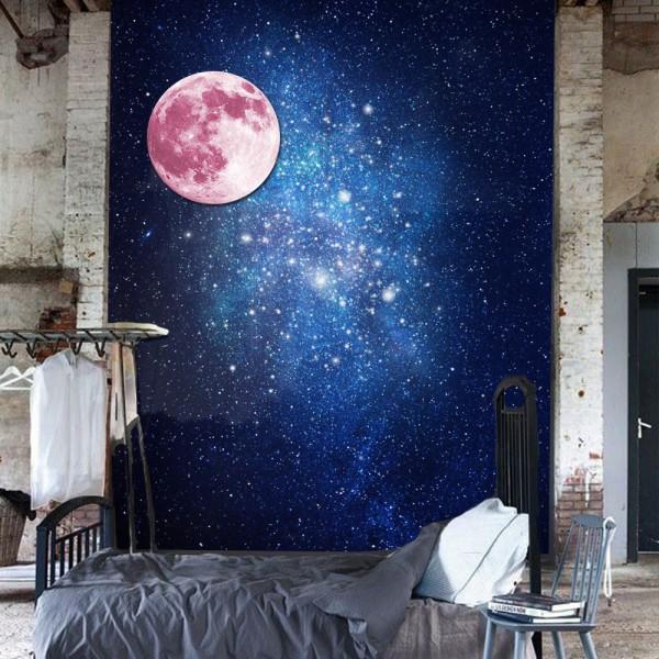 Motiv Svetleča Luna - Roza
