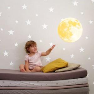 Motiv Svetleča Luna - Rumena