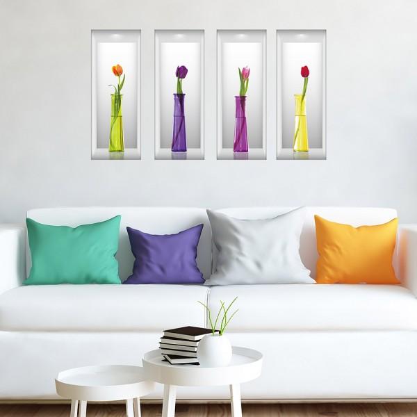 Motiv Tulipani v vazah