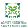 Motiv Turške zelene ploščice 10x10 cm - 24 kosov