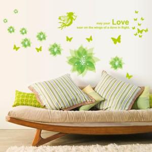 Motiv Zeleni cvetovi