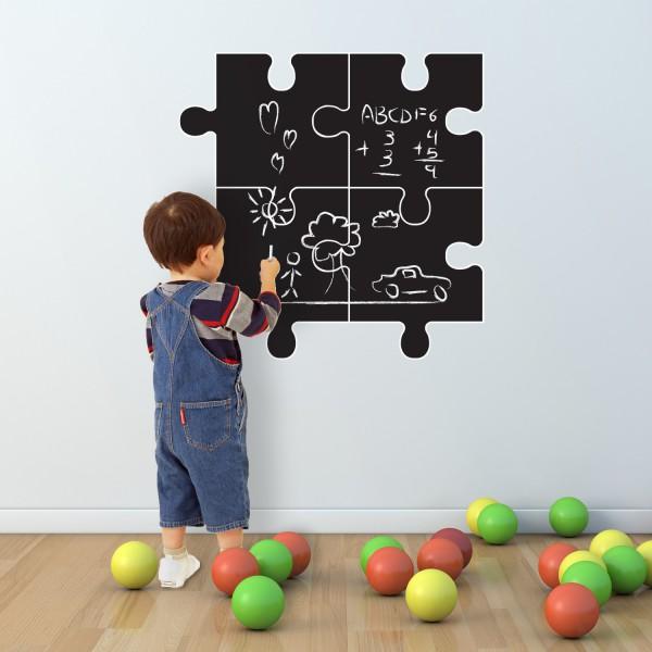 Piši in briši nalepka Puzzle (4 kosi)
