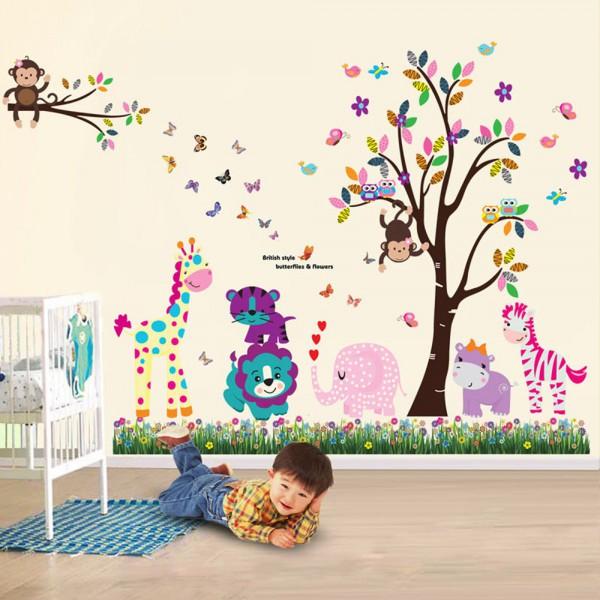 Motiv Vesele živali in Travnik z metulji