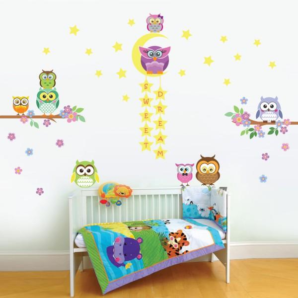 Motiv Barvite sove in Sove z zvezdicami