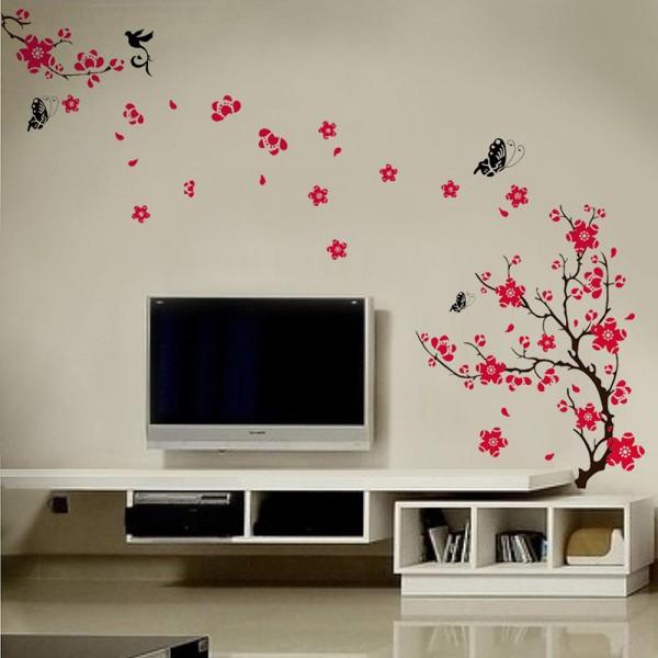 Motiv Črno-roza drevo