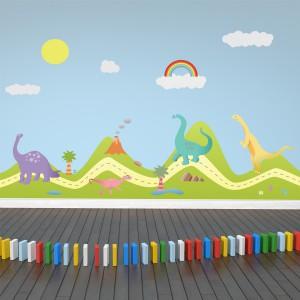 Motiv Dinozavri na hribu