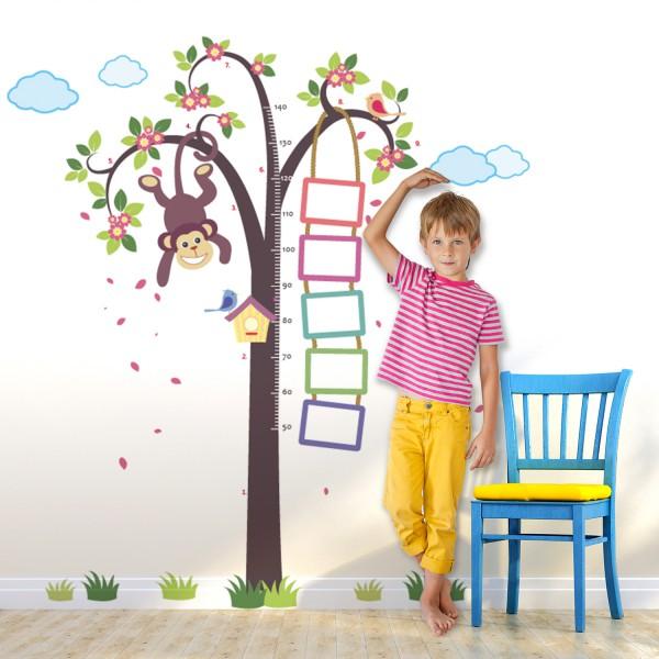Motiv Opica na drevesu in meter