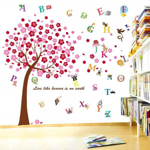 Motiv Roza drevo in Živalska abeceda