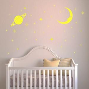 Motiv Sijoče zvezdice in luna