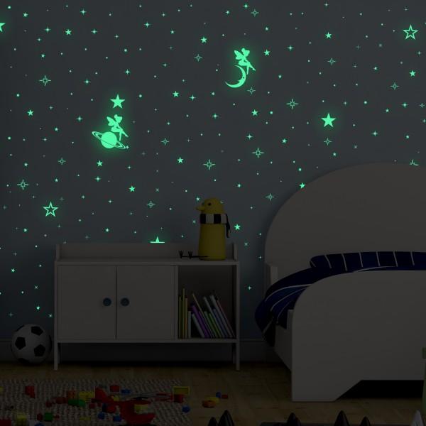 Motiv Svetleče vile, zvezdice, planeti in lune