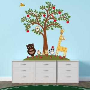 Motiv Živali pod jablano