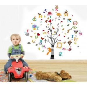 Motiv Živalska abeceda in drevo